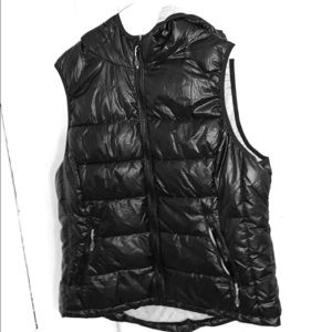 TANGERINE Puffer Vest with Hood Sz XXLarge Black